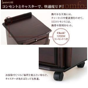 コンセントつき 天然木ベッドサイドテーブル(ナイトテーブル) comfo. コンフォ kagunoroomkoubou 04