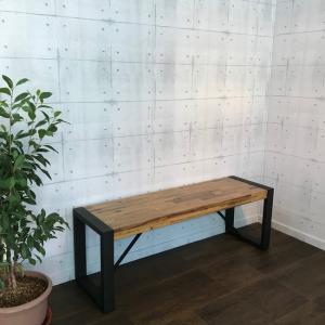 ベンチ チェア イス 椅子 腰掛け アカシア 無垢材 アジアン ヴィンテージ 幅130cm 在庫1台限り|kagunoroomkoubou