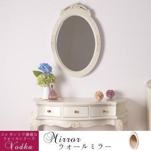 アンティーク調ウォールミラー 壁掛け 鏡 猫脚プリンセスシリーズ 手彫り家具(小型家具)|kaguone