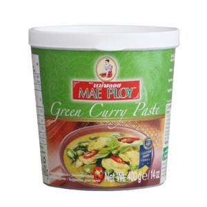 グリーンチリを原料としたカレーペースト。 ココナッツミルクを加えて作ります。