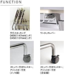 会議用テーブル 1人用 幅90×奥行45×高さ70センチ AC-0260|kaguro|03