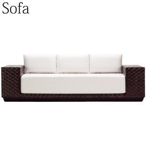 ソファ、3人掛け  高級感あふれるリゾートスタイルの3人掛けソファ 日常を離れ、心と体を開放するリゾ...