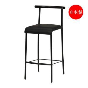 カウンターチェア 椅子 日本製 イス チェア ブラック塗装 業務用 完成品 MT-0335 kaguro