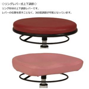 スツール 作業用椅子 ワーキングチェア 丸椅子 メディカルチェア イス リング式レバー ガス昇降 回転式 抗菌 難燃 オフィス 会社 病院 施設 工場 MT-1297|kaguro|04