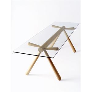【飛騨産業】 HIDA テーブル (W231 D72) Giulie 強化ガラス ナラ NY色・BK色 EM307G|kaguroom