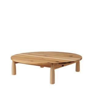 【飛騨産業】 HIDA リビングテーブル (W120 D120 H35) Cerreto 圧縮杉 ブナ NY2色 EM372LT|kaguroom