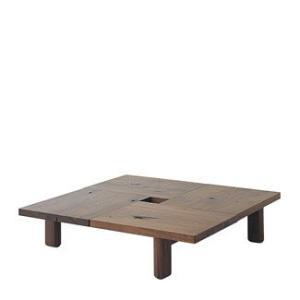 【飛騨産業】 森のことばWalnut フロアテーブル  SW151T  ウォルナット(節入り)|kaguroom