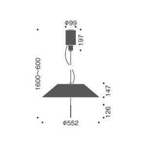 シャープでシンプルな ダイニング天井照明LEDペンダントライトブラック40-40415-02-91 kaguselect-com 02