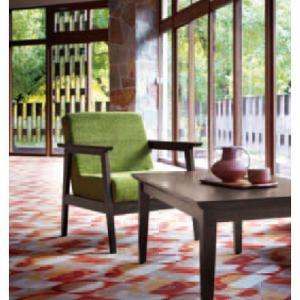 1人掛けソファクール木製ソファー業務用ソファ業務用家具店舗用家具 alto-1p