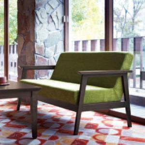 2人掛けソファ レトロ クラシックシンプル木製ソファー業務用店舗用ソファ alto-2p