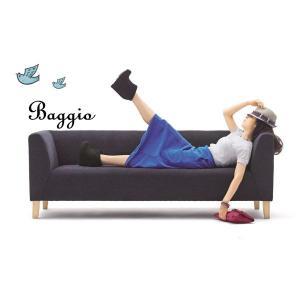 ソファ 3人掛けソファー モダン レトロシンプルソファ業務用店舗家具baggio-3p
