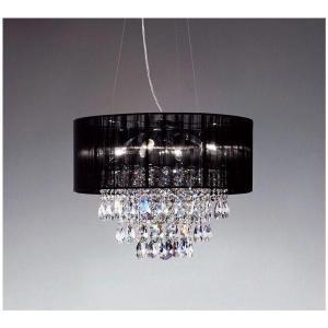高級 シャンデリア 照明クリスタルビーズのラグジュアリーなシャンデリア ブラックLEDランプ照明 ERP7183B|kaguselect-com