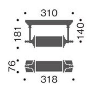 真鍮ブロンズレトロブラケットライト照明  アンティーク壁面照明幅318mm MB50415-42|kaguselect-com|02
