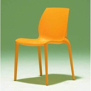 スタッキングチェア オレンジ樹脂チェア デザインガーデンチェアイタリア製BONTEMPI mbc0068or |kaguselect-com