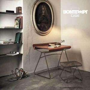 レザー天板の デスクテーブル 97cm  コンソールテーブル BONTEMPI  mbt0146br
