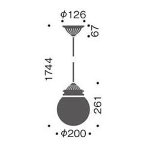 レトロデザイン アンティーク風丸型陶器 ペンダント照明LEDライト(ホワイト)mp40427-01-90|kaguselect-com|02