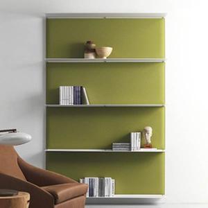 おしゃれな壁面飾り棚シンプルおしゃれ壁ディスプレイ棚caimi イタリア製 4段セット muw0082-4-84-5|kaguselect-com