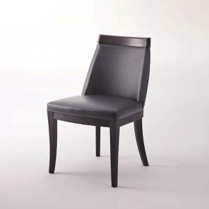 ダイニングチェアブラックレザー合皮木製業務店舗家具椅子myc0778bl|kaguselect-com