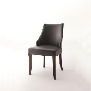 ダイニングチェアブラックレザー合皮木製業務店舗家具椅子myc0779bl|kaguselect-com