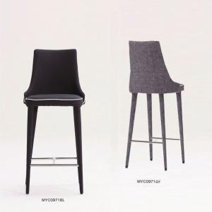 カウンターチェアスタンド椅子 カフェハイチェア仕上布色2種完成品 店舗業務用家具myc0971|kaguselect-com