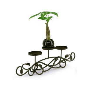 キャンドルホルダー 3連アイアン テーブルキャンドルホルダースタンド 店舗業務用 myk0227
