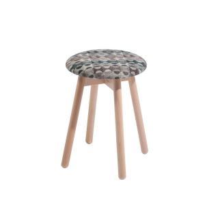 スツールチェアイタリア製LaSediaスツール木製 piccolo-n-wool-blue|kaguselect-com