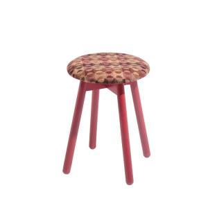 木製スツールチェアイタリア製LaSediaスツール piccolo-r-wool-orange|kaguselect-com