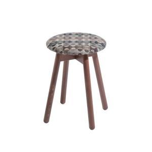 木製スツールチェアイタリア製LaSediaスツール piccolo-w-wool-blue|kaguselect-com