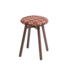 木製スツールチェアイタリア製LaSediaスツール piccolo-w-wool-orange|kaguselect-com