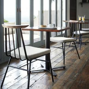 カフェテーブル60×60cmウォールナットブビンガコーヒーテーブル 業務用家具店舗用家具 st905e-ft725e|kaguselect-com