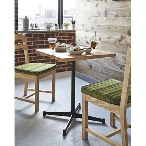 カフェテーブル60×60cmコーヒーテーブル業務用店舗用家具ラバーウッド天板色3種類 st906e-ft726e|kaguselect-com