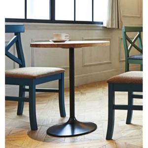 カフェテーブル丸型コーヒーテーブル直径60cm業務用店舗用家具ラバーウッド天板色3種類 st906t-at144b|kaguselect-com