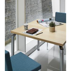 ダイニングテーブル90×90cm多目的テーブルホワイトアッシュ装飾天板 st910p-ct439|kaguselect-com