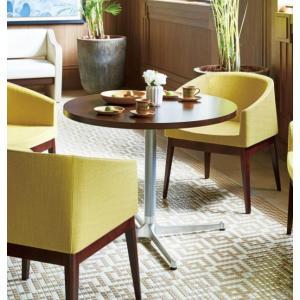 カフェテーブル丸型センターテーブル直径75cm業務用店舗用家具ホワイトアッシュ装飾天板2種類 st910s-ft710e|kaguselect-com