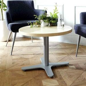 カフェテーブル丸型センターテーブル直径60cm業務用店舗用家具ホワイトアッシュ装飾天板2種類 st910t-ft724g|kaguselect-com