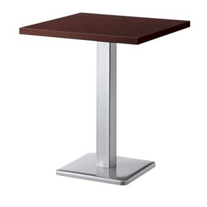 カフェテーブル60×60cmウォールナットブビンガコーヒーテーブル 業務用家具店舗用家具 st911e-bt300t|kaguselect-com