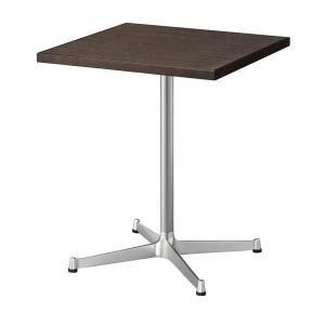 カフェテーブルメラミン木縁3色コーヒーテーブル60×60cm業務用店舗用家具 st940e-ft710e|kaguselect-com