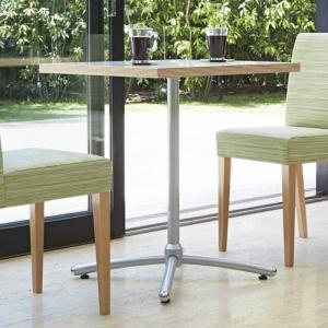 カフェテーブル60×60カジュアルコーヒーテーブル積層合板風天板ホワイト・ブラック業務用家具店舗用家具 st943e-ft722e|kaguselect-com