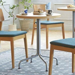 カフェテーブル60cmかわいいパイプ脚の丸型テーブル ナチュラル ブラウン ホワイトなど4種類 st947t-ft716|kaguselect-com