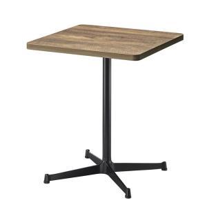カフェテーブル角R形状60×60cm アンティークブラウン色他天板他4種類から業務用店舗用家具 st962e-ft726e|kaguselect-com