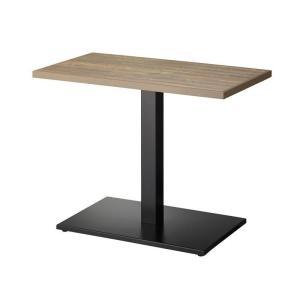 テーブルカフェテーブルアンティーク古材調天板90×50cm 2色業務用店舗用家具 tp176v-ft220mbk|kaguselect-com