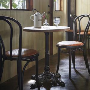 テーブルカフェテーブルアンティーク古材風直径60cm 3色業務用店舗用家具 tp177k-ft257m|kaguselect-com