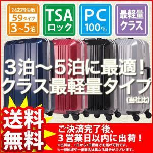 スーツケース 中型 超軽量『クラス最軽量タイプMサイズ』