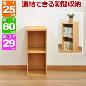 すき間収納棚(幅25cm)『NEWプレージ6025』 幅25cm 奥行き29.4cm 高さ60cm 送料無料 収納 隙間 すきま スキマ カラーボックス 多目的ラック 多目的棚|kaguto