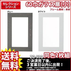 棚 カラーボックス『セレクション60巾ガラス扉(小)』 木製フレーム 同色2枚組 リビング収納