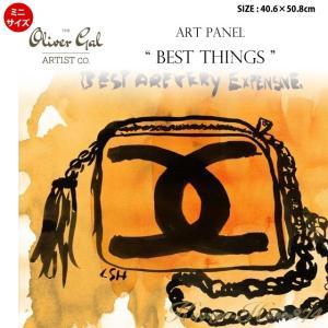 代引き不可 ミニサイズ アートパネル「BEST THINGS」サイズ40.6×50.8cm バッグの絵画 ポップアート |kaguya-hime374