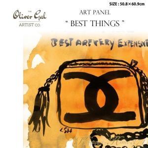代引き不可 アートパネル「BEST THINGS」サイズ50.8×60.9cm バッグの絵画 ポップアート |kaguya-hime374