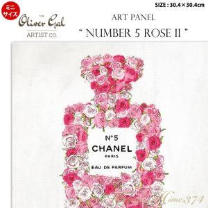 代引き不可 ミニサイズ アートパネル「NUMBER 5 ROSE 2」サイズ30.4×30.4cm ファッションの絵画 ポップアート|kaguya-hime374