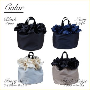 巾着ミニバッグ「フリル」 巾着バッグ サブバッグ お買い物、お出かけに 小さめトートバッグ 手提げカバン 手提げ鞄 kaguya-hime374 04