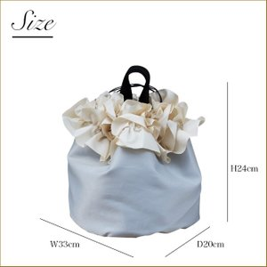 巾着ミニバッグ「フリル」 巾着バッグ サブバッグ お買い物、お出かけに 小さめトートバッグ 手提げカバン 手提げ鞄 kaguya-hime374 05